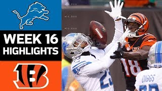 Lions vs. Bengals | NFL Week 16 Game Highlights