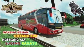 Euro Truck Simulator 2   Bus Sugeng Rahayu Ngeblong Bawa Motor Sampe Keluar Asap (HD)