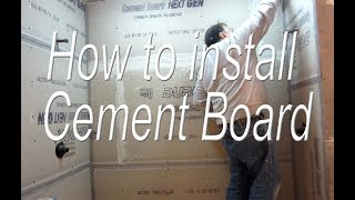 How to Install Cement board, all the steps needed form cutting and installing to waterproofing.