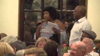 Woman tells Malema he has no authority to talk about land, he isn't Khoisan