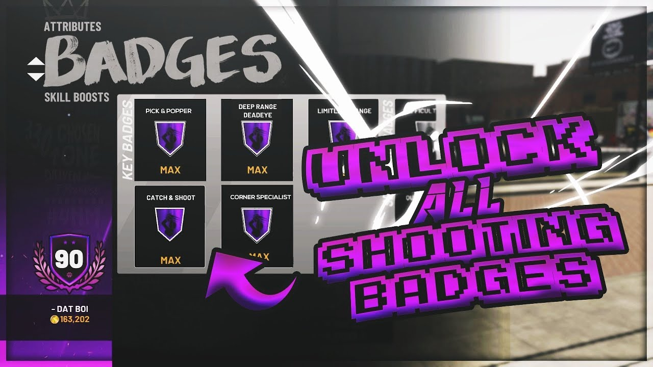 HOW TO GET ALL SHOOTING BADGES FAST!!! NBA 2K19 LIMITLESS RANGE, CATCH AND  SHOOT, DIFFICULT SHOTS