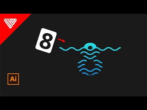 Creating Water Waves Logo | Illustrator Tutorial