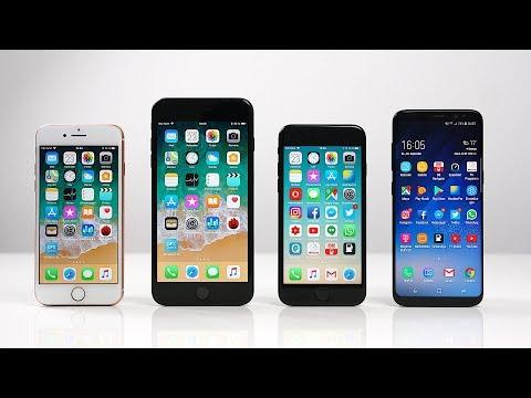 Apple iPhone 8 vs. iPhone 8 Plus vs. iPhone 7 vs. Samsung Galaxy S8: Benchmark | SwagTab