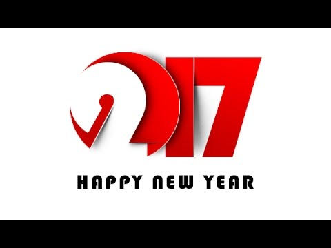 photoshop create new year greeting card 2017 youtube