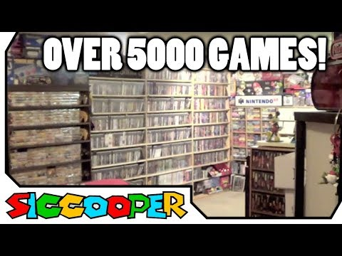 INSANE Video Game Room Tour  (Over 5000 Games!) | SicCooper