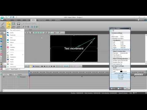 VSDC Video Editor: Animate text or other objects