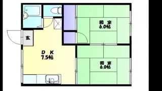 三門小学区 2DK アパート ペット可 岡山市北区葵町