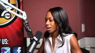 Allyson Felix drops by shows Cipha & Kfoxx her new Olympic Metals!