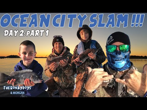 Slaying The Tautog (Blackfish) : Jetty Fishing!!!- Ocean City Slam:  Day 2: Part 1