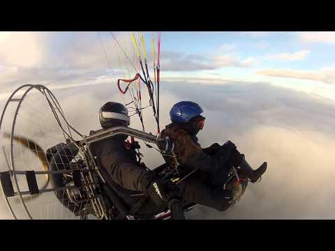 Ослепитильный полет на паралете над облаками. Пермь