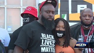 Family of Michael Brown Jr. travels to Louisville for Breonna Taylor protest