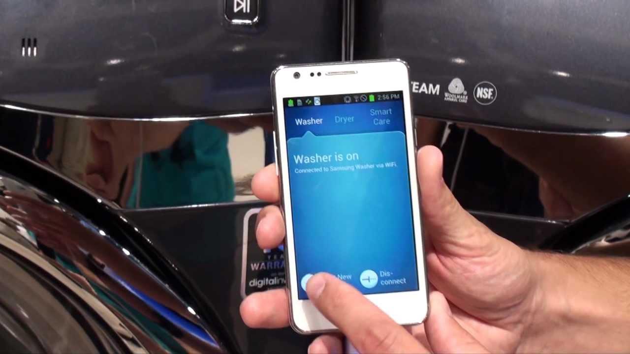 Ifa 2012: samsung zeigt waschmaschine mit wlan und app steuerung