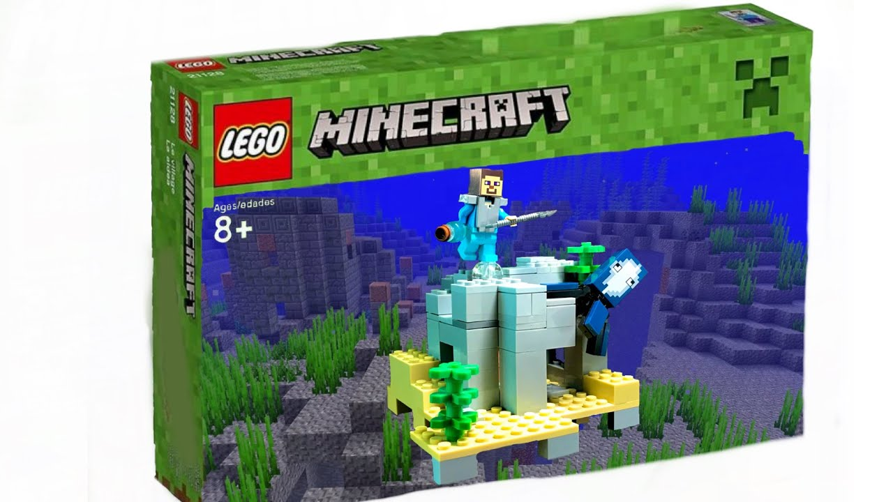 How To Build Minecraft Lego Underwater Ruins  My Creation With Ideas