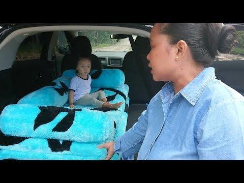 Jalan Jalan Pasang Kasur LOL di Mobil ajak Anak Anak makan Ikan Patin Bakar - Palangka Raya