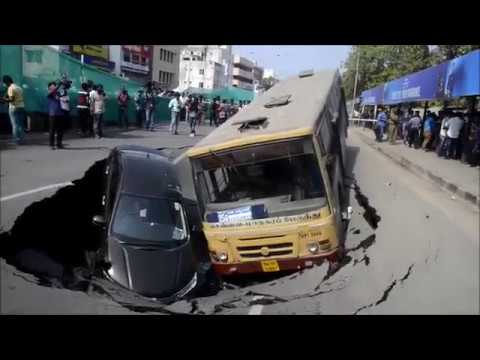 Cave-in on Chennai's Anna Salai