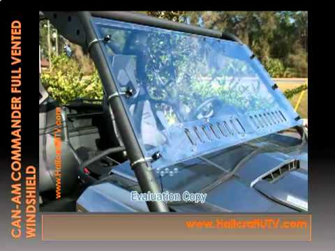 Can-Am Commander Full Vented Windshield mp4