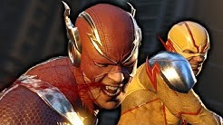 Flash Vs. Reverse Flash Fight Scene - Injustice 2 (Justice League)