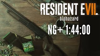 Resident Evil 7 - New Game+ Speedrun in 1:44:00 [Personal Best]