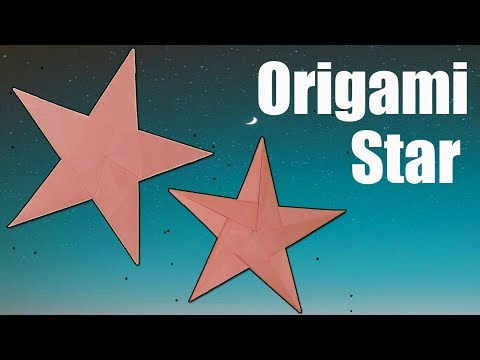 DIY Paper Craft-Origami Star|How To Make 5 Pointed Origami Paper Star|Star Folding Instructions 2019