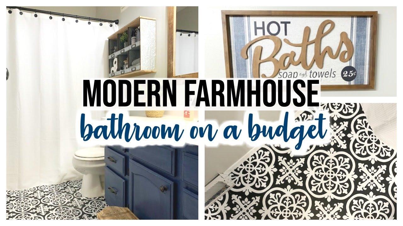 kids modern farmhouse bathroom reveal diy farmhouse bathroom tour