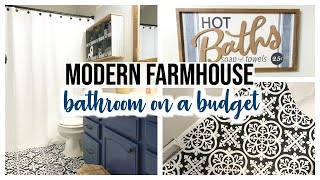 KIDS MODERN FARMHOUSE BATHROOM REVEAL | DIY FARMHOUSE BATHROOM TOUR