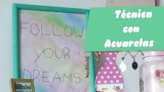 Cuadro con Acuarelas - Decora tu cuarto Thumbnail
