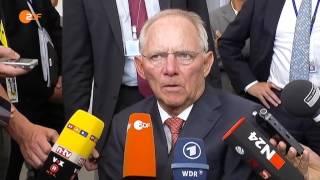 Schäuble ist unzufrieden mit Griechenland