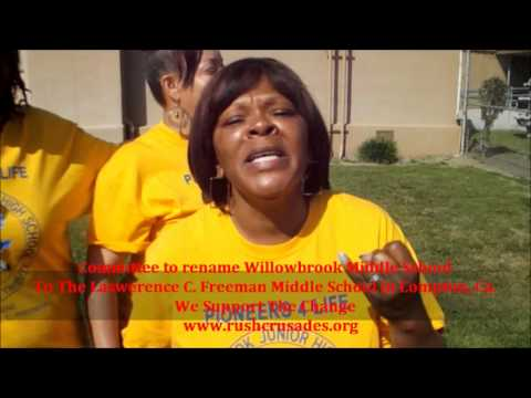Rename Willowbrook to Lawerence C. Freeman Middle School
