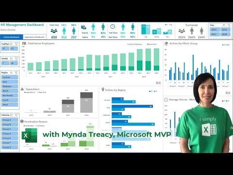 Interactive Excel HR Dashboard - FREE Download