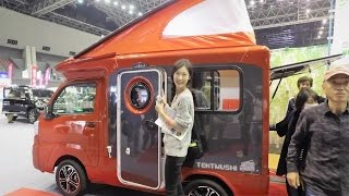 경차 주차장 가능한 초소형 캠핑카 - Small Motorhome Tentmushi - Japan Camping Car Show 3 thumbnail