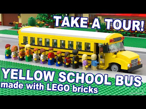 CUSTOM BUILD - 18 Passenger LEGO Yellow School Bus MOC