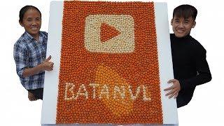 Bà Tân Vlog - Làm Cái Nút Vàng Youtube Khổng Lồ Từ Cá Viên Chiên | Making Gold YouTube Playbutton