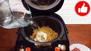 Просто добавьте воды Простой и вкусный ОБЕД или УЖИН Макароны с фрикадельками в мультиварке