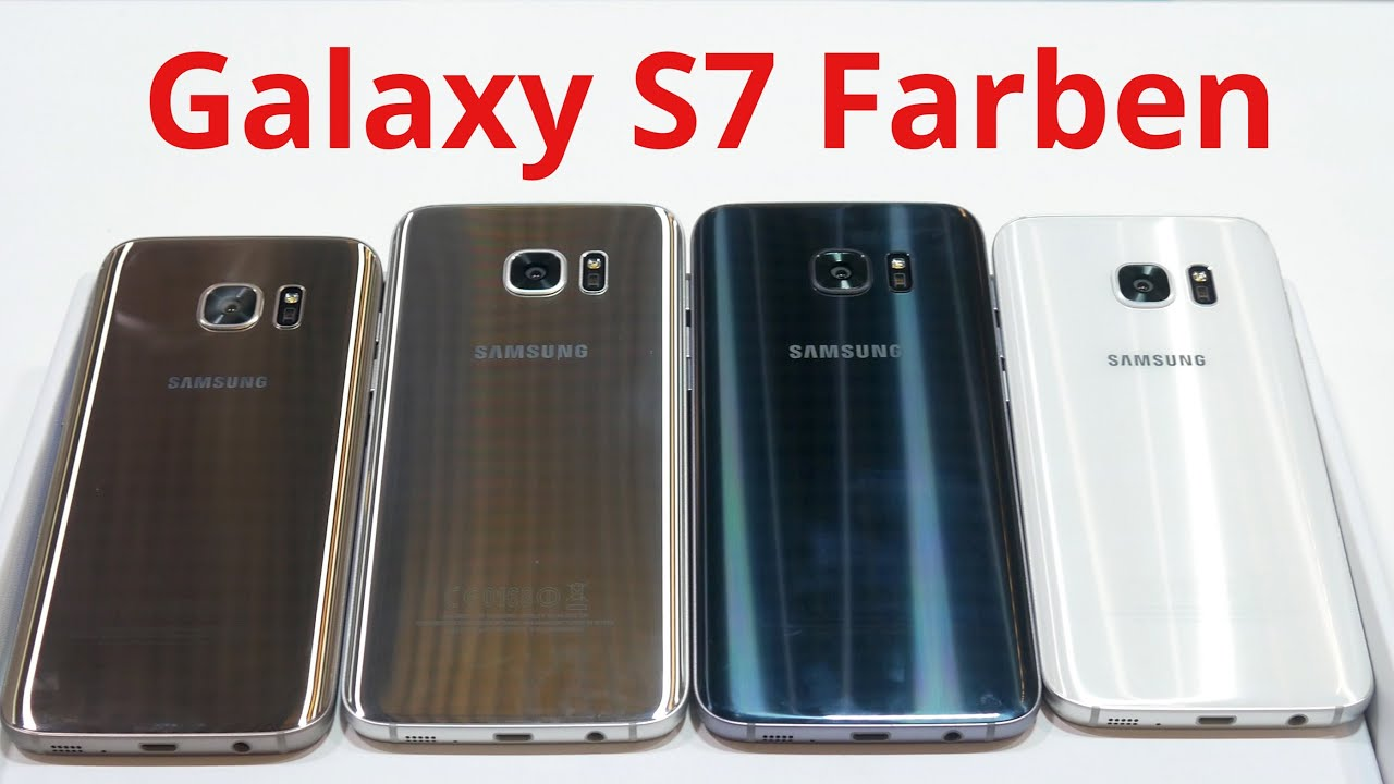 samsung galaxy s7 s7 edge farbvergleich youtube. Black Bedroom Furniture Sets. Home Design Ideas