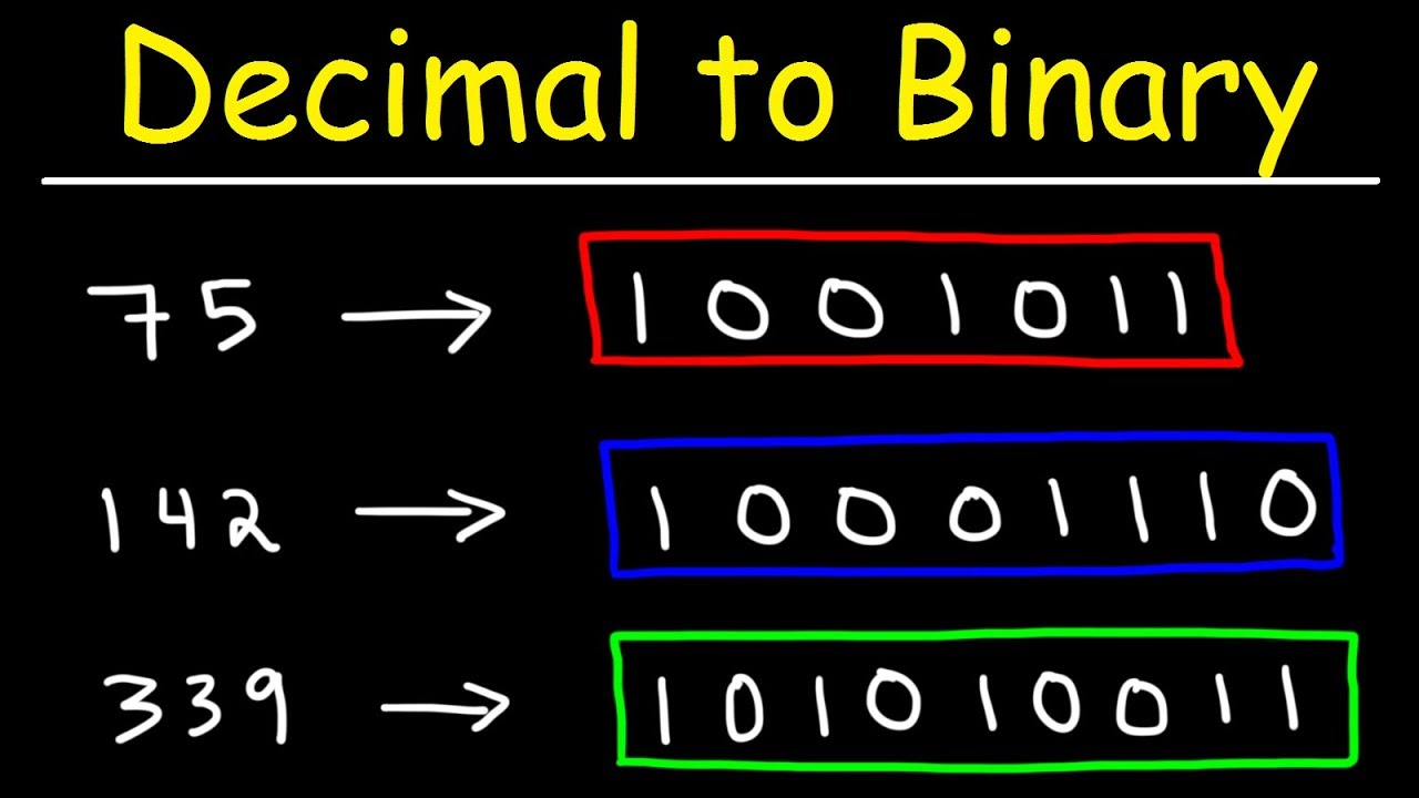 How To Convert Decimal Binary You