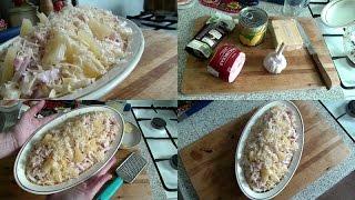 Салат с курицей и ананасами. Отличная Закуска для праздничного стола!