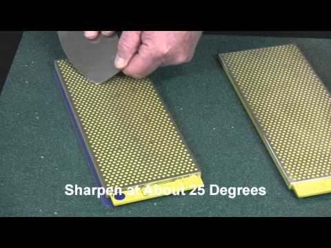 Video of Sharpening a Mezzaluna with 10-in.DuoSharp® Bench Stone