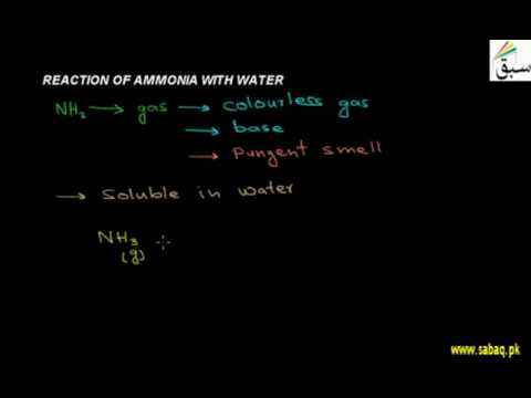 Reaction Of Ammonia With Water, Chemistry Lecture | Sabaq.pk |