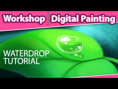 How to Paint a Water Drop in Photoshop - Digital Painting Workshop