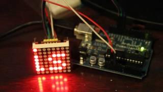 Arduino Scrolling Text MAX7219 LED Dot Matrix Display module tutorial Part#2
