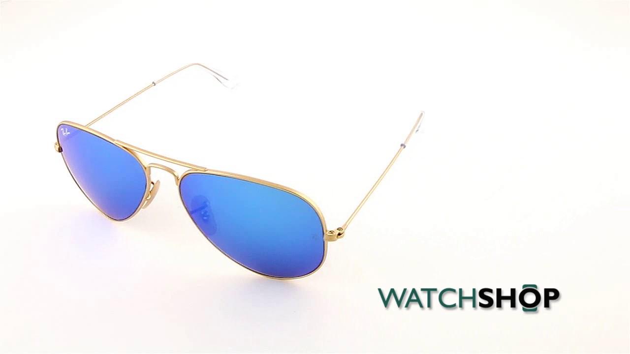 d557339e18ade Ray-Ban Men s Aviator Flash Lens Sunglasses (RB3025-112 17-58) - YouTube