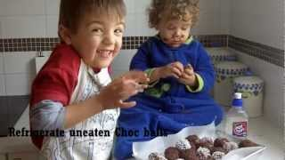 Choc Balls With Dates And Walnuts - By Cooking In Your Pyjamas