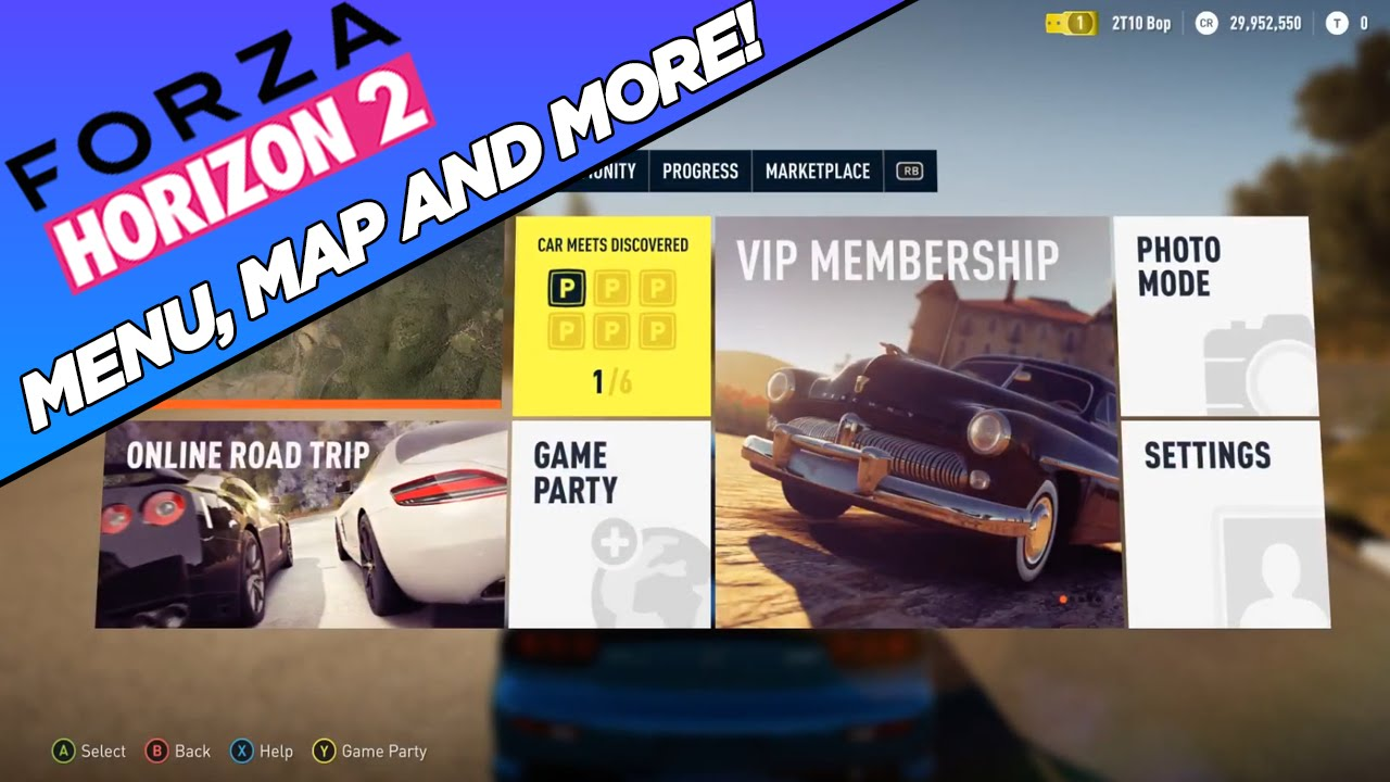 Forza Horizon 2 - Menu, Map AND MORE!! (Updated Infomation #5)