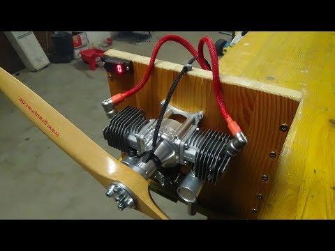 5.5HP XYZ 53cc Twin Cylinder Gas Engine Test Run