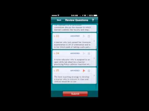 Introducing the Certified Nurse Educator Q & A Review App! - YouTube