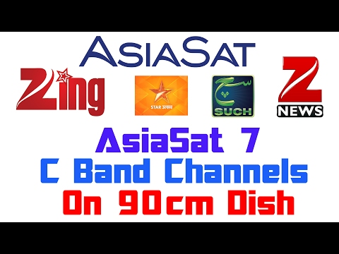 Asiasat 7 @105°E | C Band Channels On 90cm Dish | Free Channels