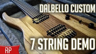 NEW GUITAR! Dalbello Guitars 7 String Custom Demo