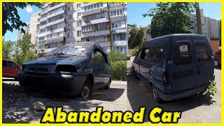 Creepy Abandoned Car Citroen Jumpy Found 2018. Lost Vehicles in Yard 2018
