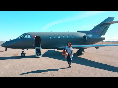 We flew on a Private Jet!