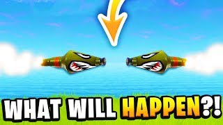 WHAT WILL HAPPEN IF 2 ROCKETS COLLIDE in Fortnite: Battle Royale!? (MASSIVE NUKE EXPLOSION?)